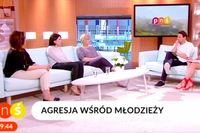 """Agresja wśród młodzieży – Monika Dreger w """"Pytanie na śniadanie"""""""