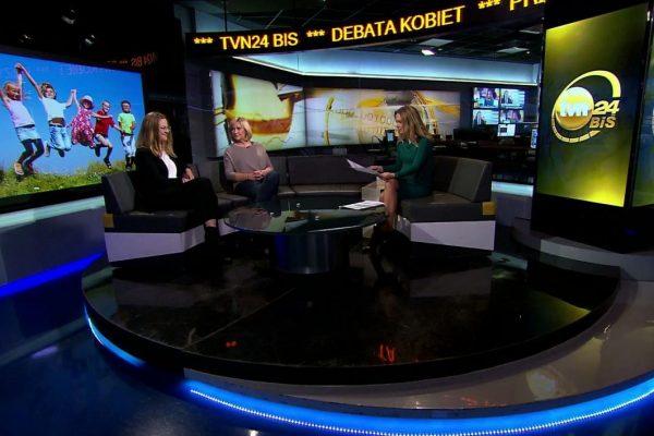 "Monika Dreger w programie ""Debata Kobiet"" w TVN 24 BiS"
